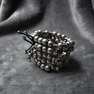 Silver Bead Stretch Bracelet